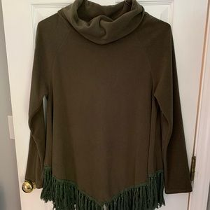 Fringe Poncho Long Sleeve